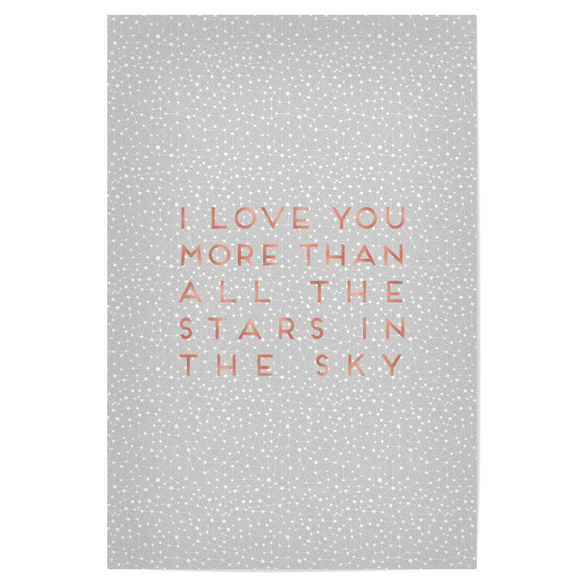 i love you more than 30x20 cm poster