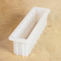 Silicone loaf soap molds with reinforced sides