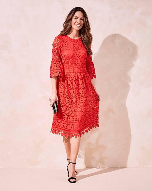 Bell Sleeve Lace Dress Marisota