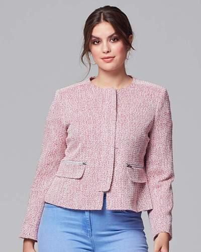 Fashion World Helene Berman Zip Front Jacket