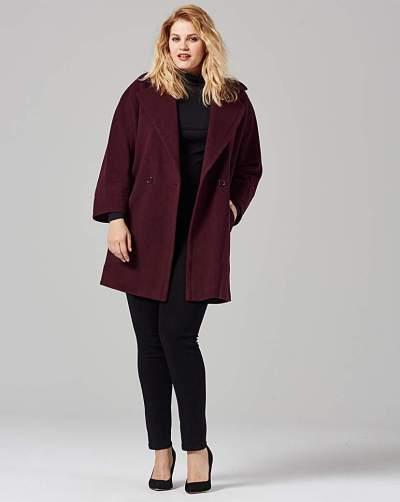 Fashion World Helene Berman Longline Collar Coat