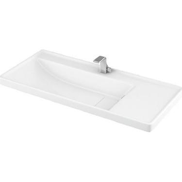 Lapino Quattro 100 Cm Konsollu Etejerli Lavabo Beyaz Renk Fiyati