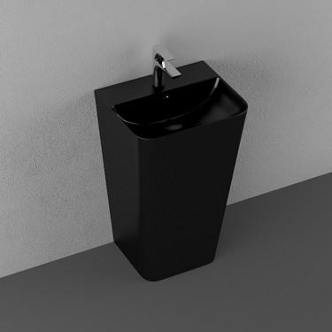 isvea sott aqua monoblok lavabo 50 cm siyah