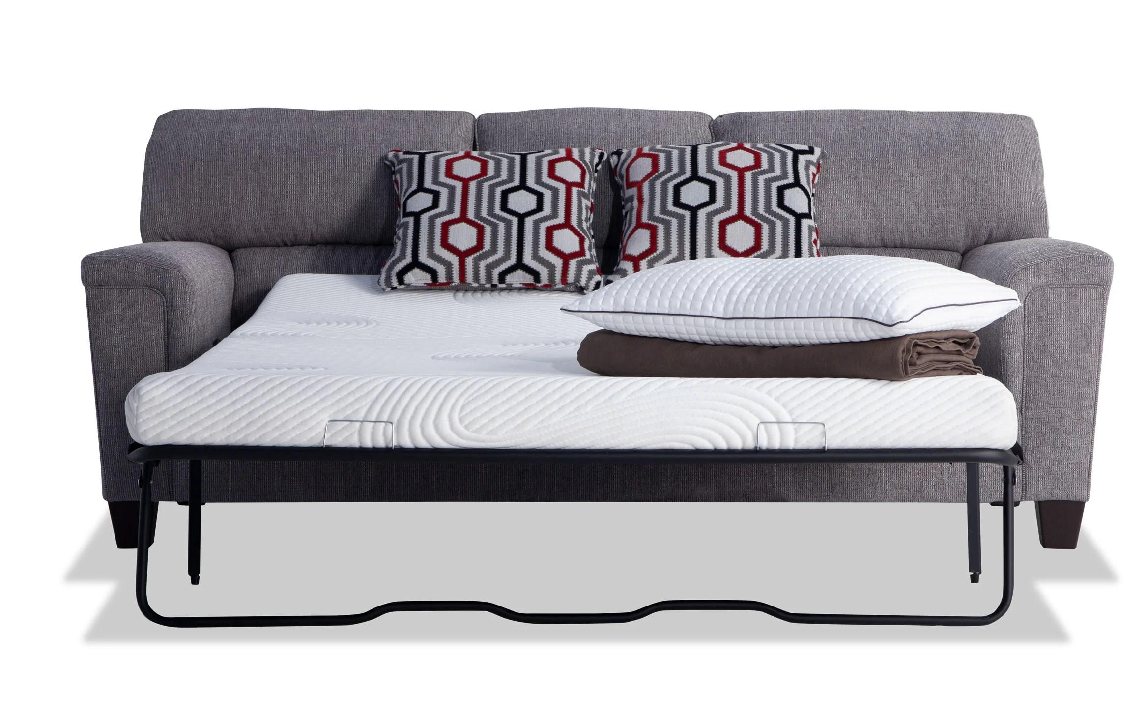 Calvin Concrete Gray Bob O Pedic Queen Sleeper Sofa Bobs Com