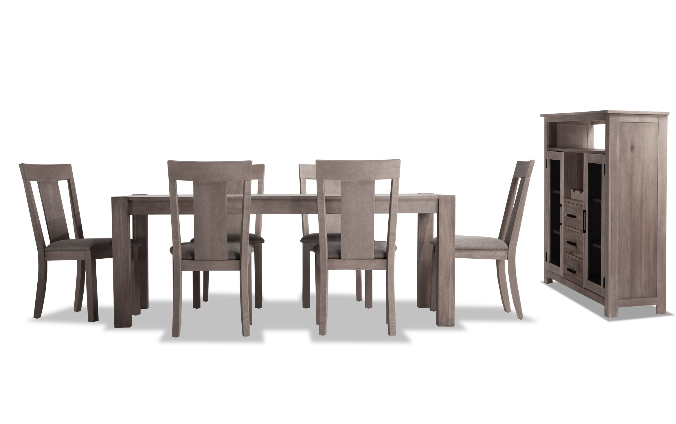 Summit 42 X 78 Gray 8 Piece Dining Set With Server Bobs Com