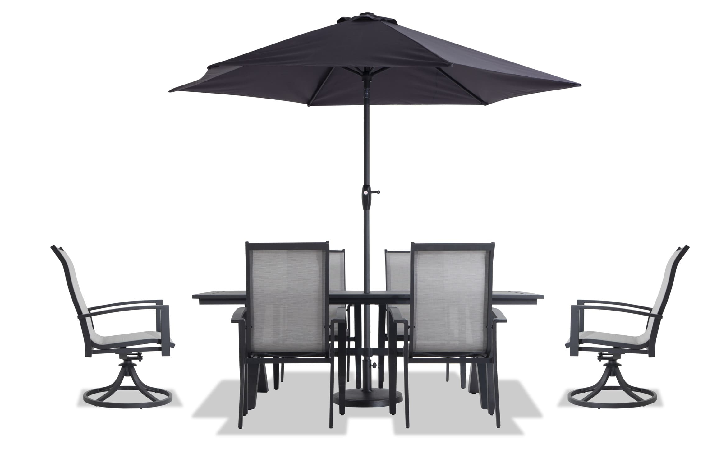 hollywood 9 piece outdoor dining set with cover umbrella and base