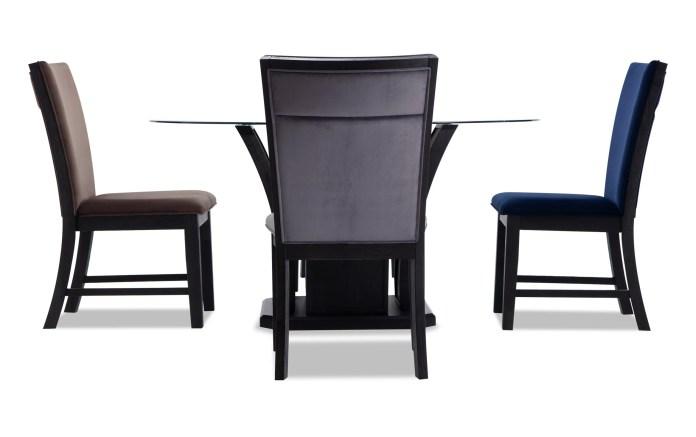 Cosmopolitan Round Multicolored 5 Piece Dining Set Bob S Discount Furniture