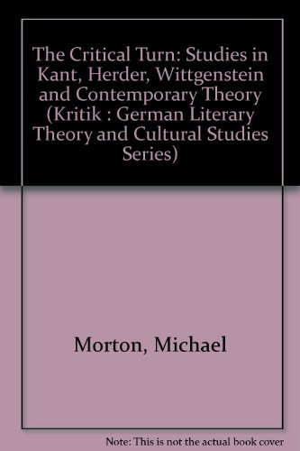 The Critical Turn By Michael Morton   Used   9780814323762   World of Books