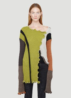 Ottolinger Ripp Knit Sweater in Green