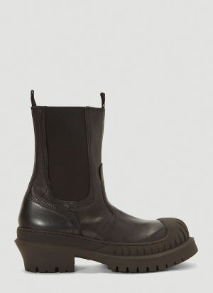 Acne Studios Bryant Lug-Sole Chelseas Boots in Black