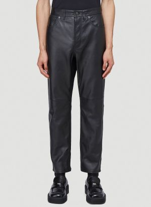 Acne Studios Leather Straight-leg Pants in Black