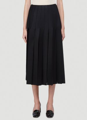 Prada Pleated Skirt in Black