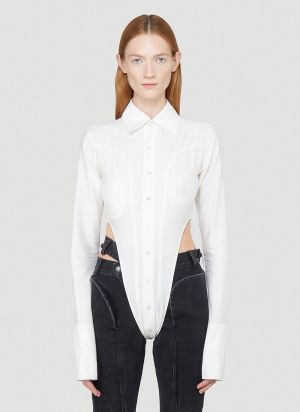 Nina Mounah Bipeds Long-Sleeved Top in White