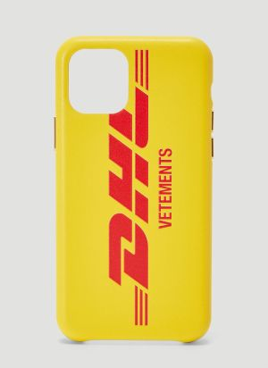 Vetements DHL iPhone Case in Yellow