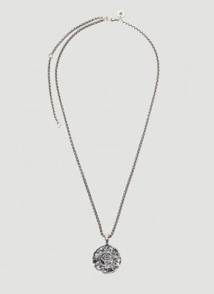 Tom Wood Viking Coin Pendant 18 inch in Silver