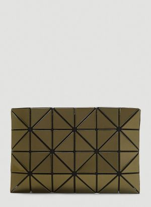 Bao Bao Issey Miyake Lucent Metallic Pouch in Green