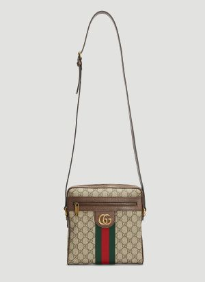 Gucci Small Ophidia Messenger Bag in Beige