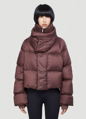 Rick Owens Puffer Jacket in Red