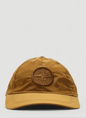 Stone Island Nylon Baseball Cap in Brown