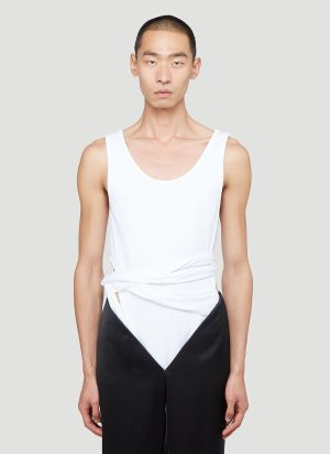 Y/Project Sleeveless Wrap Tank Top in White