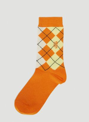 Pringle of Scotland Classic Argyle Socks in Orange