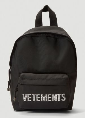 Vetements Rhinestone-Embellished Backpack in Black