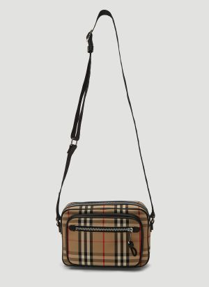 Burberry Vintage Check Crossbody Bag in Beige