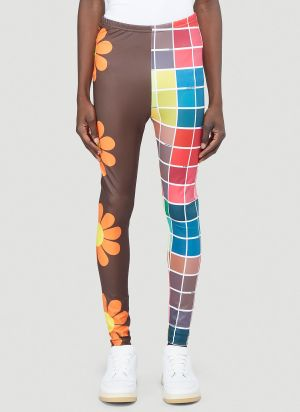 Walter Van Beirendonck Save Planet Earth Bike Leggings in Brown