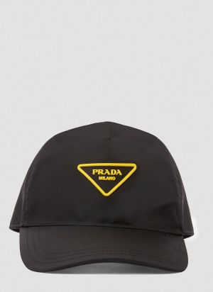 Prada Nylon Baseball Cap in Black