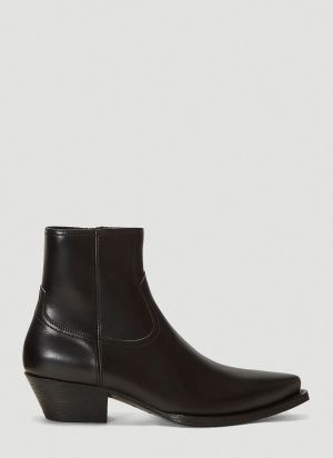 Saint Laurent Lukas Ankle Boots in Black