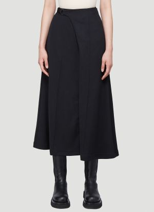 Y-3 Wrap-Over Skirt in Black