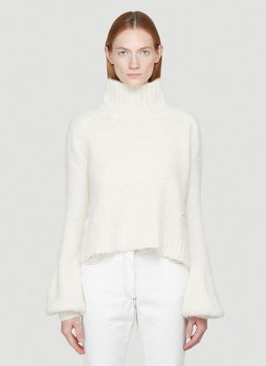 JW Anderson Bubble-Cuff Sweater in White