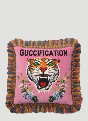 Gucci Guccification Cushion in Pink