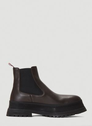Burberry Chelsea Ankle Boots in Brown