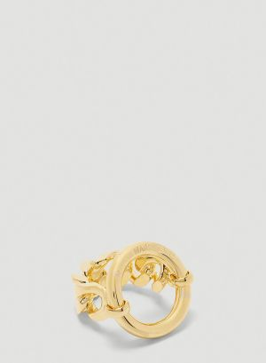 MM6 Maison Margiela Chain Ring in Gold