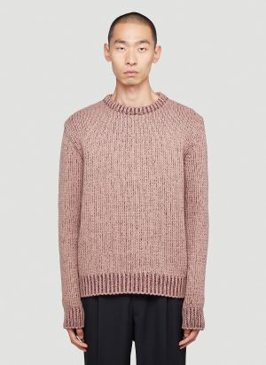 Marni Fisherman Crewneck Sweater in Red