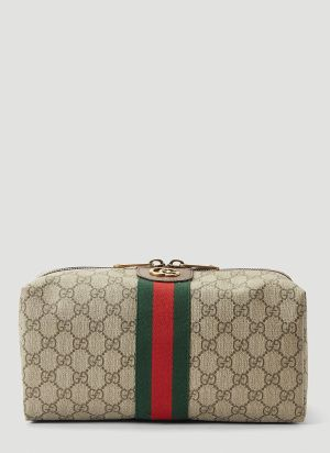 Gucci Ophidia GG Toiletry Case in Beige