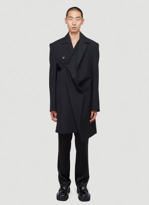 Y/Project Twisted Coat in Black