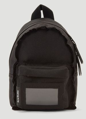 Acne Studios Mini Raw-Edged Backpack in Black
