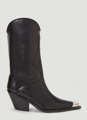MISBHV Texas Cowboy Boots in Black
