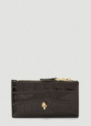 Alexander McQueen Zipped Leather Small Pouch in Black