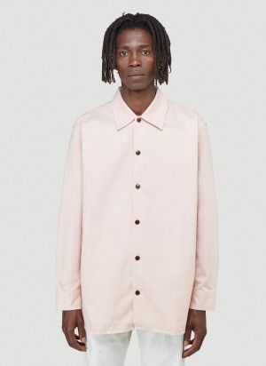 Acne Studios Boxy-Fit Twill Shirt in Pink