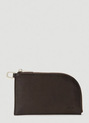 Rick Owens Zipped Pouch in Brown