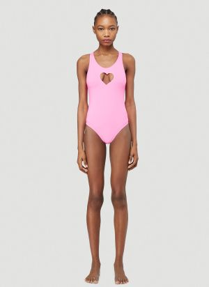Vetements Heart Swimsuit in Pink
