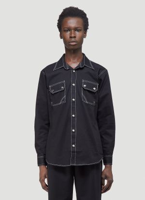Youths In Balaclava Giles Shirt in Black