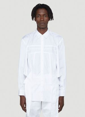 Comme Des Garcons SHIRT Panelled Poplin Shirt in White