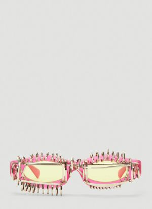 Kuboraum Mask Y5 Embellished Sunglasses in Pink