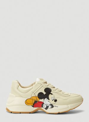 Gucci X Disney Rhyton Sneakers in White