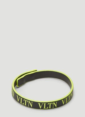 Valentino VLTN Leather Bracelet in Yellow