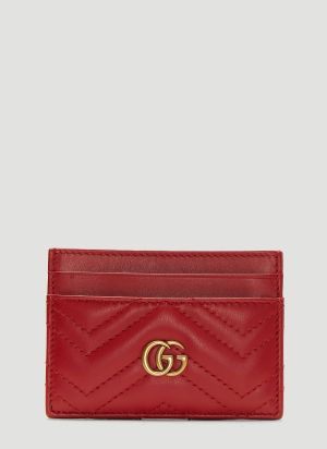 Gucci GG Marmont Card Holder in Red